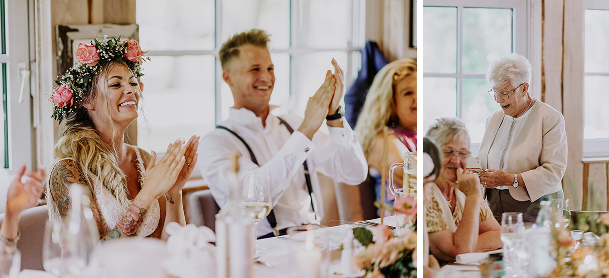 ungestellte Hochzeitsfotos Boho-Hochzeit Seelodge Kremmen - Standesamt Hochzeit am Wasser in Seelodge von Hochzeitsfotograf Brandenburg © www.hochzeitslicht.de