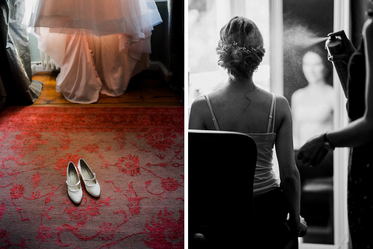 Hochzeitsfotografien Styling Braut elegante Landhochzeit - Schloss Blankensee Hochzeit Hochzeitsfotograf Berlin © www.hochzeitslicht.de