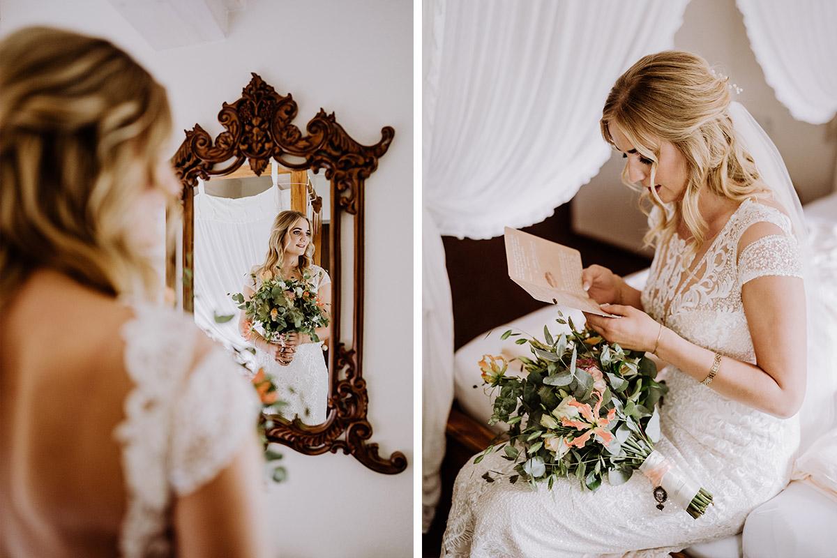 Hochzeitsfoto Vorbereitungen Braut Vintage Hochzeit Feste Scheune Berlin Buch - Hochzeit in Scheune und Standesamt in Kirche Berlin von Hochzeitsfotografin © www.hochzeitslicht.de