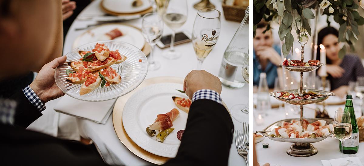 Hochzeitsfotos Abendessen Hochzeitsfeier stilvolle internationale Hochzeit - elegante deutsch-russisch-amerikanische Schloss Steinhöfel Hochzeit von Hochzeitsfotograf Brandenburg © www.hochzeitslicht.de