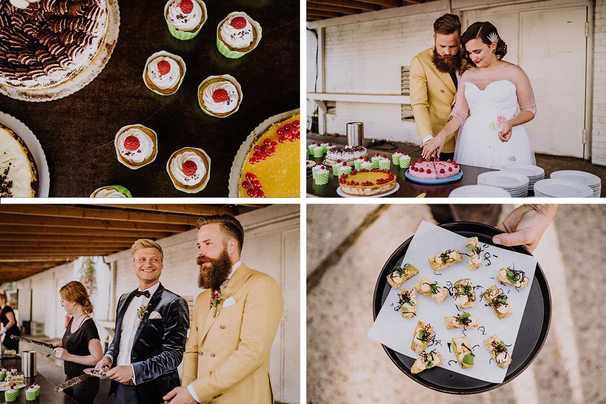 Idee Kuchenbuffet und Fingerfood DIY Hochzeit - moderne, hippe und urbane Hochzeitsreportage im von Greifswald Berlin von Hochzeitsfotografin © www.hochzeitslicht.de