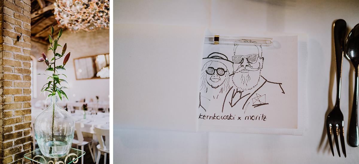 Idee Gastgeschenk Hochzeit Glasstrohhalm - moderne, hippe und urbane Hochzeitsreportage im von Greifswald Berlin von Hochzeitsfotografin © www.hochzeitslicht.de