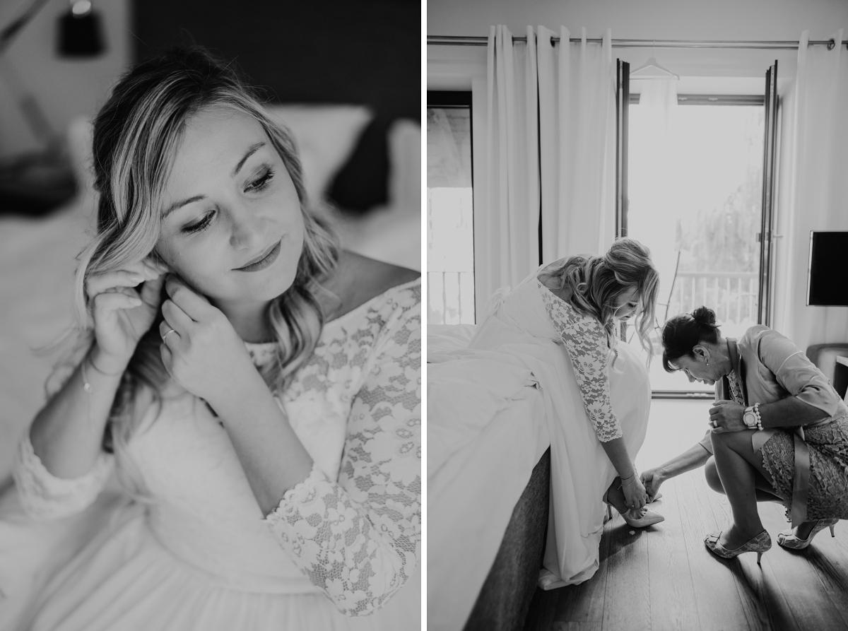 Hochzeitsreportagefotos Ankleiden Braut - Standesamt Weidendom und Spreewood Distillers DIY-Herbst-Hochzeit von Spreewald Hochzeitsfotografin aus Berlin © www.hochzeitslicht