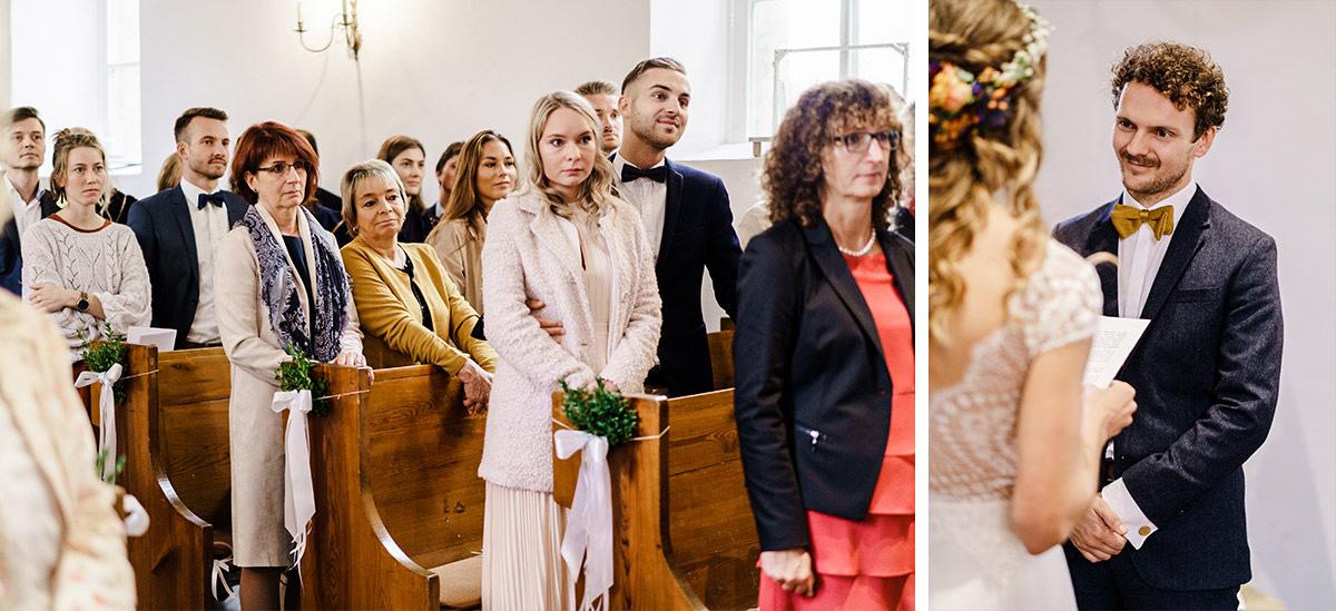 Idee Outfit Gäste Hochzeit Herbst - Hochzeit am Wasser im Restaurantschiff Alte Liebe und Dorfkirche Gatow von Hochzeitsfotografin Berlin © www.hochzeitslicht.de