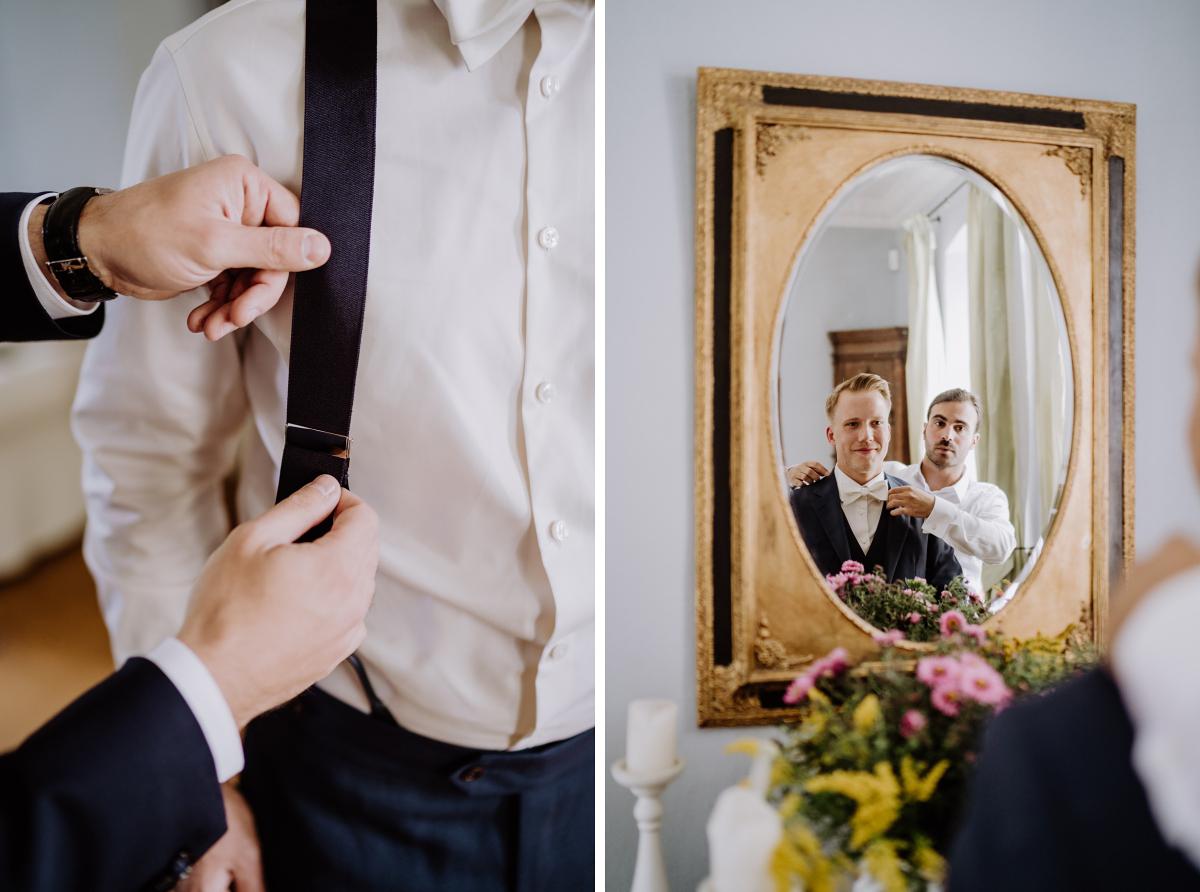 natürliche Hochzeitsfotos Bräutigam - Scheunenhochzeit in Brandenburg im Gutshaus Penzlin Hochzeitsfotograf Berlin © www.hochzeitslicht.de