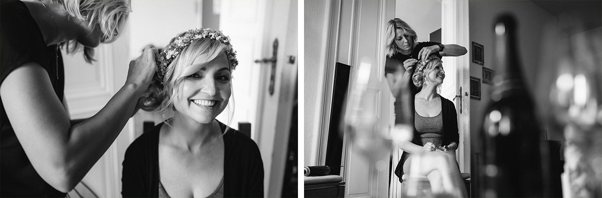 Idee natürliche Brautportraits - urbane Hochzeitsfotos im Restaurant Sonnendeck Hochzeitslocation am Wasser Hochzeitsfotograf Berlin © www.hochzeitslicht.de