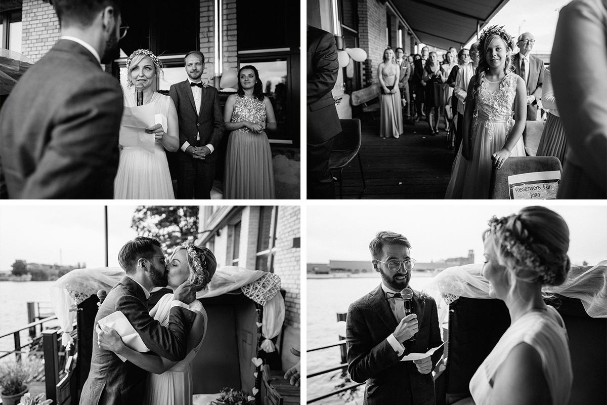 ungestellte Hochzeitsfotos Berlin - urbane Hochzeitsfotos im Restaurant Sonnendeck Hochzeitslocation am Wasser Hochzeitsfotograf Berlin © www.hochzeitslicht.de