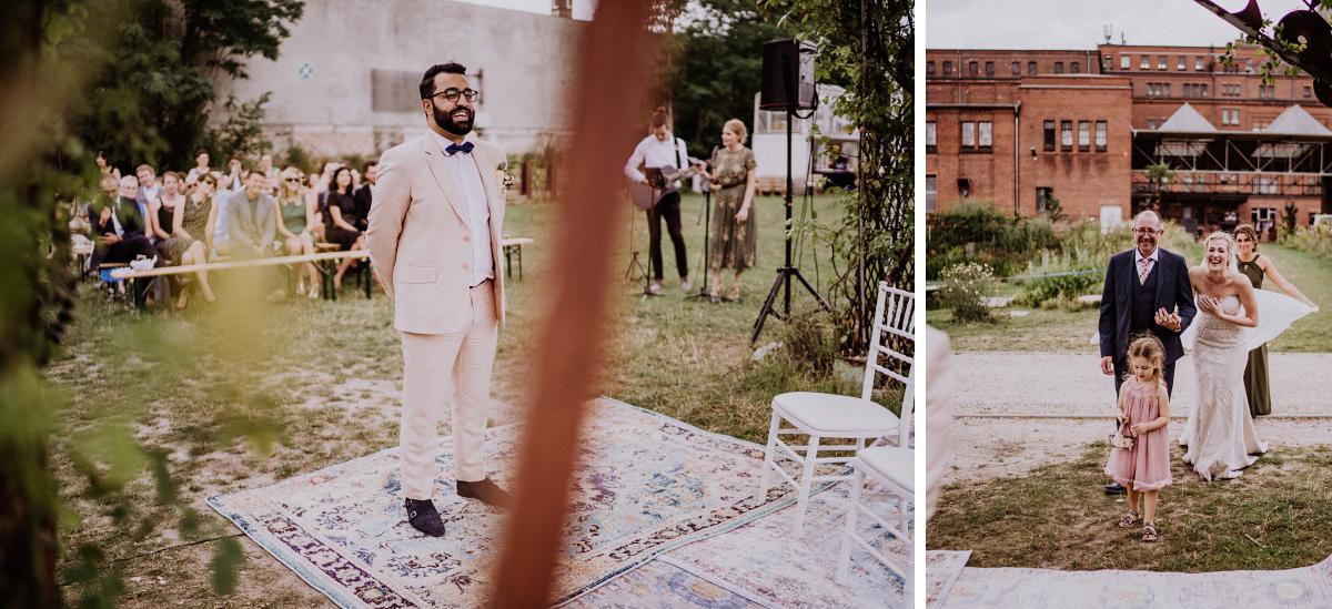 freie Trauung Garten Berlin - Persische Boho-Chic Hochzeit in der Malzfabrik Berlin von Hochzeitsfotografin aus Berlin Friedrichshain © www.hochzeitslicht.de #hochzeitslicht