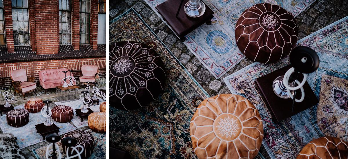 Inspiration Deko persische Hochzeit orientalisch Teppiche Shisha - Persische Boho-Chic Hochzeit in der Malzfabrik Berlin von Hochzeitsfotografin aus Berlin Friedrichshain © www.hochzeitslicht.de #hochzeitslicht