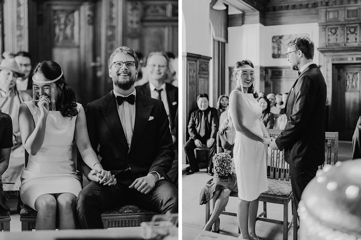 Hochzeitsfotos standesamtliche Trauung Ja-Wort natürlich mongolische Braut - Standesamt Berlin Pankow Hochzeitsfotografin auf urbane DIY Gartenhochzeit in Berlin Friedrichshain #hochzeitslicht © www.hochzeitslicht.de