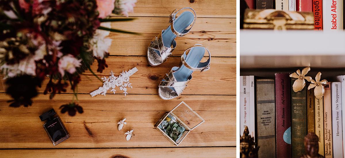 Idee Hochzeitsfotos Getting Ready zu Hause Wohnung Detailfoto Accessoires Braut - Standesamt Berlin Pankow Hochzeitsfotografin auf urbane DIY Gartenhochzeit in Berlin Friedrichshain #hochzeitslicht © www.hochzeitslicht.de