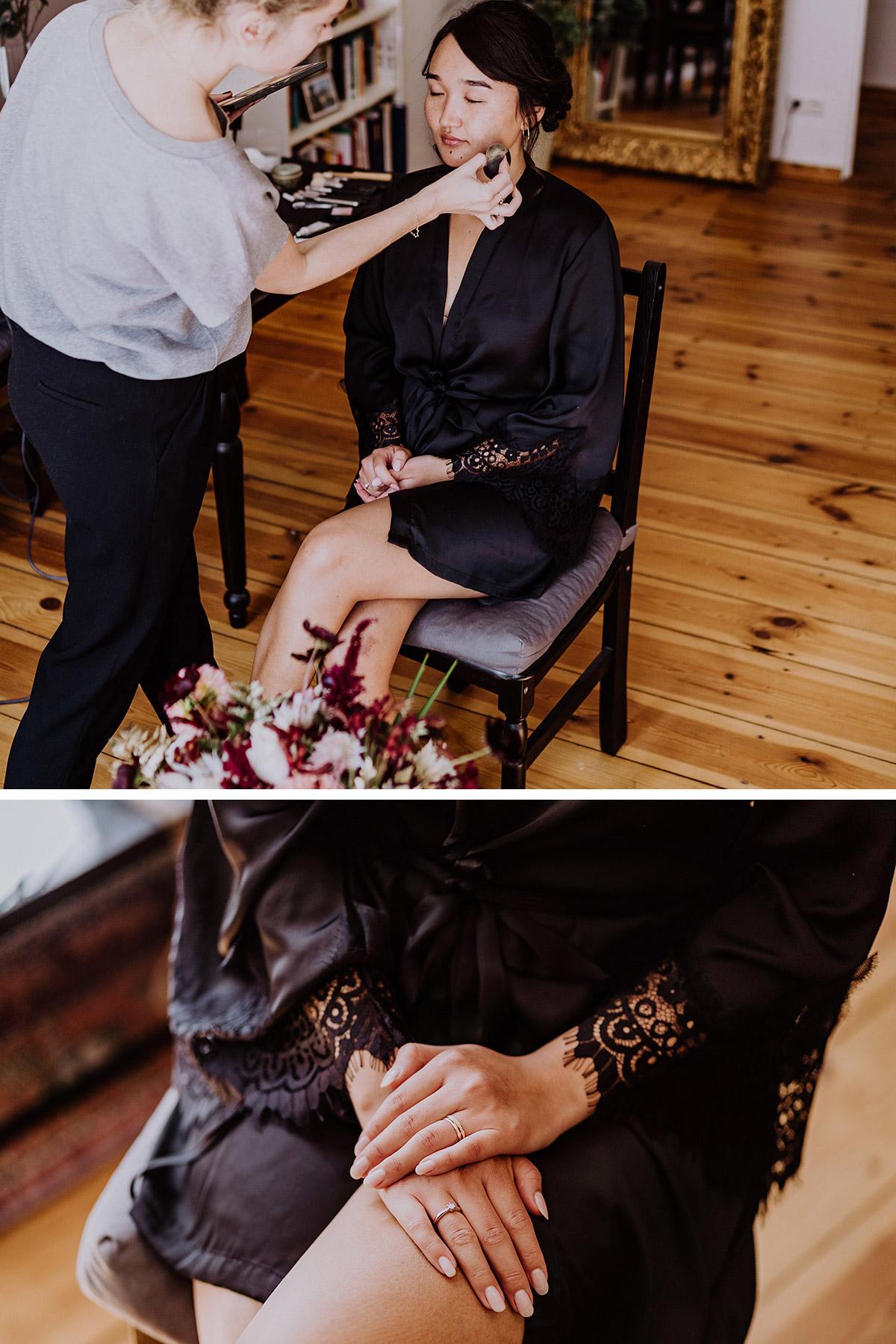 Hochzeitsfotos Braut moderne Berlinhochzeit Styling zu Hause - Standesamt Berlin Pankow Hochzeitsfotografin auf urbane DIY Gartenhochzeit in Berlin Friedrichshain #hochzeitslicht © www.hochzeitslicht.de