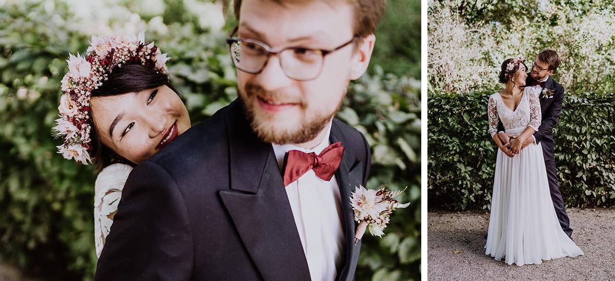 Hochzeitsfoto Ideen romantisch kreativ in der Natur - Standesamt Berlin Pankow Hochzeitsfotografin auf urbane DIY Gartenhochzeit in Berlin Friedrichshain #hochzeitslicht © www.hochzeitslicht.de