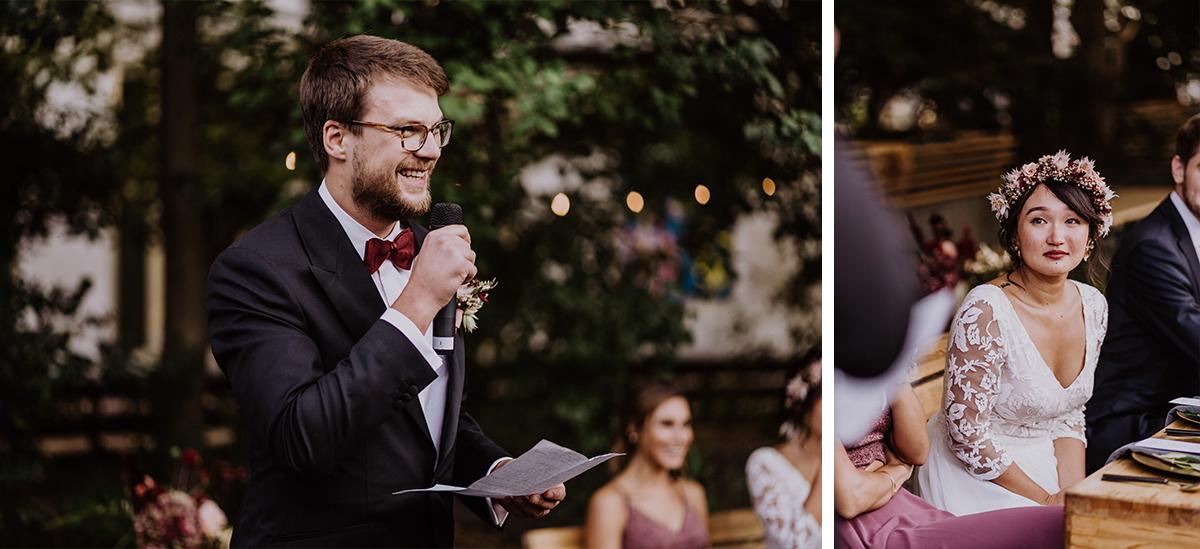 Hochzeitsfotos Reden Hochzeit authentisch - Standesamt Berlin Pankow Hochzeitsfotografin auf urbane DIY Gartenhochzeit in Berlin Friedrichshain #hochzeitslicht © www.hochzeitslicht.de