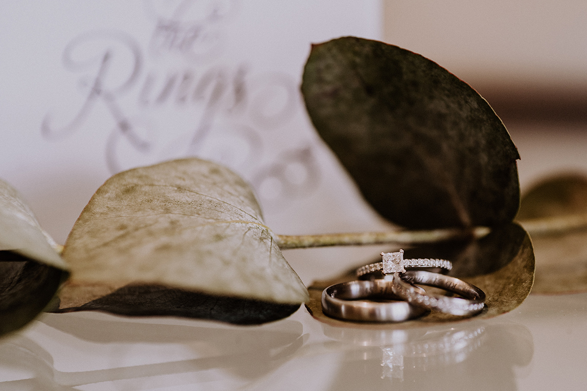 Idee Foto Ringe kreativ Eukalyptus - standesamtliche Strandhochzeit - Hochzeitsfotografin an der Ostsee © www.hochzeitslicht.de #hochzeitslicht