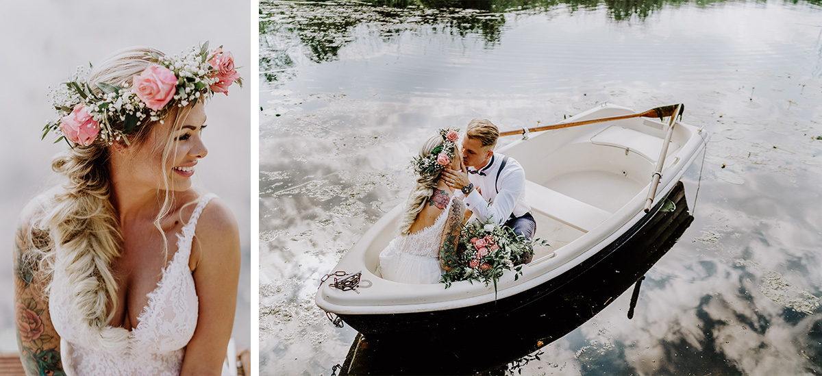 Fotoshooting Hochzeit am Wasser - Standesamt Hochzeit am Wasser in Seelodge von Hochzeitsfotograf Brandenburg © www.hochzeitslicht.de #hochzeitslicht