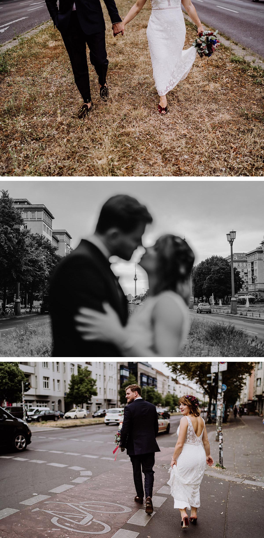 Brautpaarshooting Ideen urbane Hochzeitsfotos mit Fernsehturm Berlin - Hochzeit Berlin Friedrichshain in Hochzeitslocation Old Smithy's Dizzle von Boho Hochzeitsfotograf © www.hochzeitslicht.de #hochzeitslicht