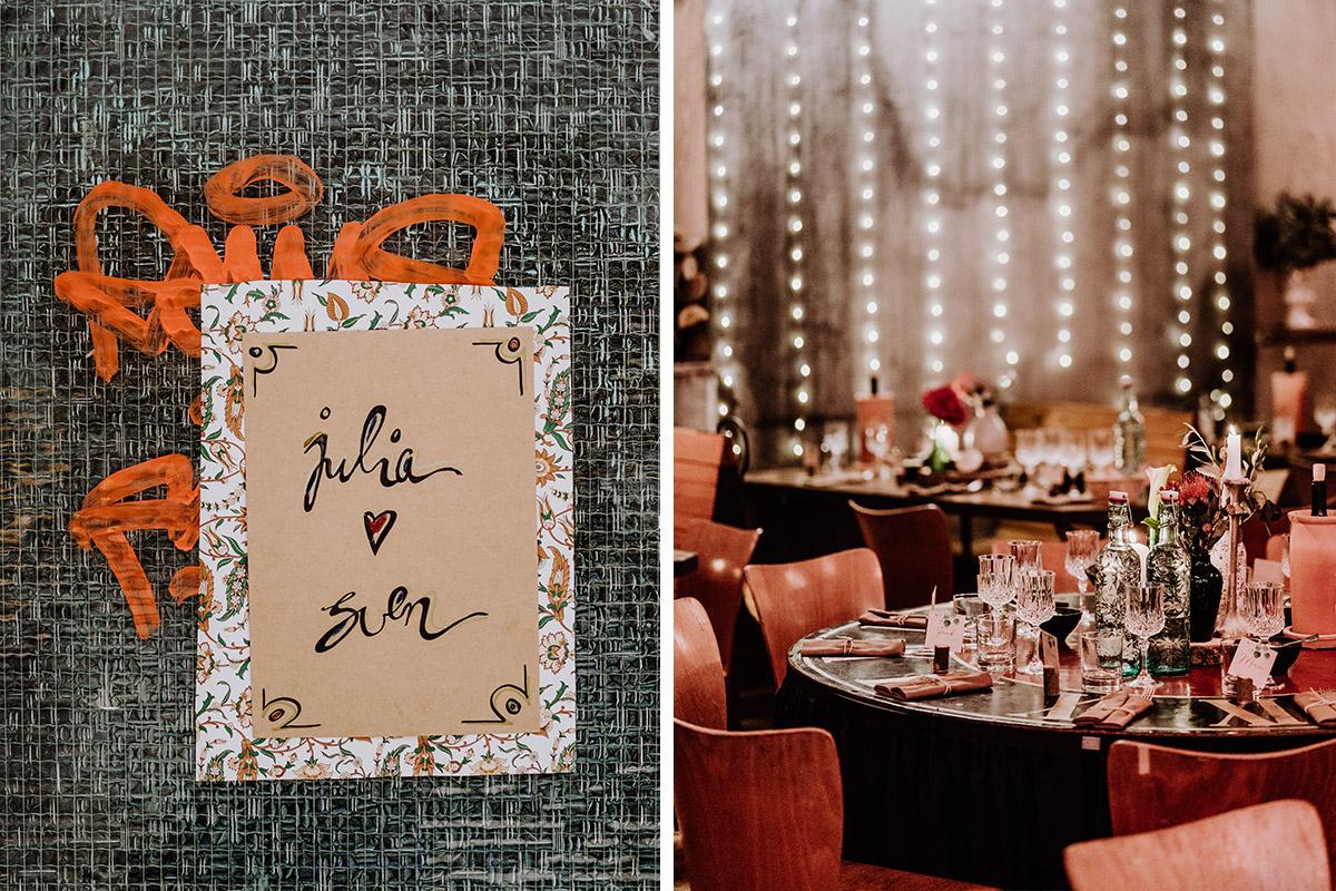 Idee moderne Hochzeitspapeterie - Hochzeit Berlin Friedrichshain in Hochzeitslocation Old Smithy's Dizzle von Boho Hochzeitsfotograf © www.hochzeitslicht.de #hochzeitslicht