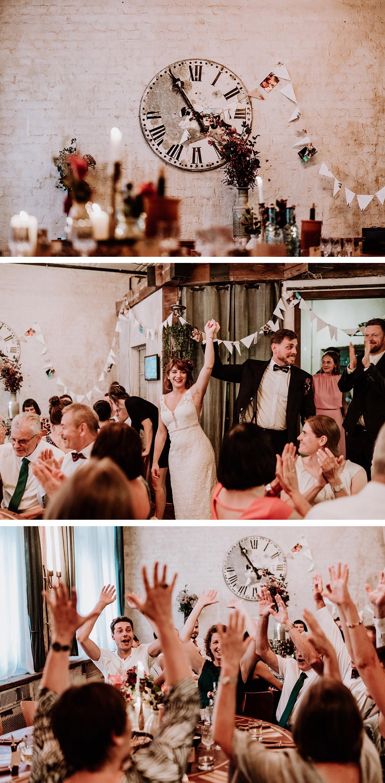 Boho Hochzeit emotionale Hochzeitsfotos Eröffnung Feiersaal Vintage Boho Hochzeit - Hochzeit Berlin Friedrichshain in Hochzeitslocation Old Smithy's Dizzle von Boho Hochzeitsfotograf © www.hochzeitslicht.de #hochzeitslicht