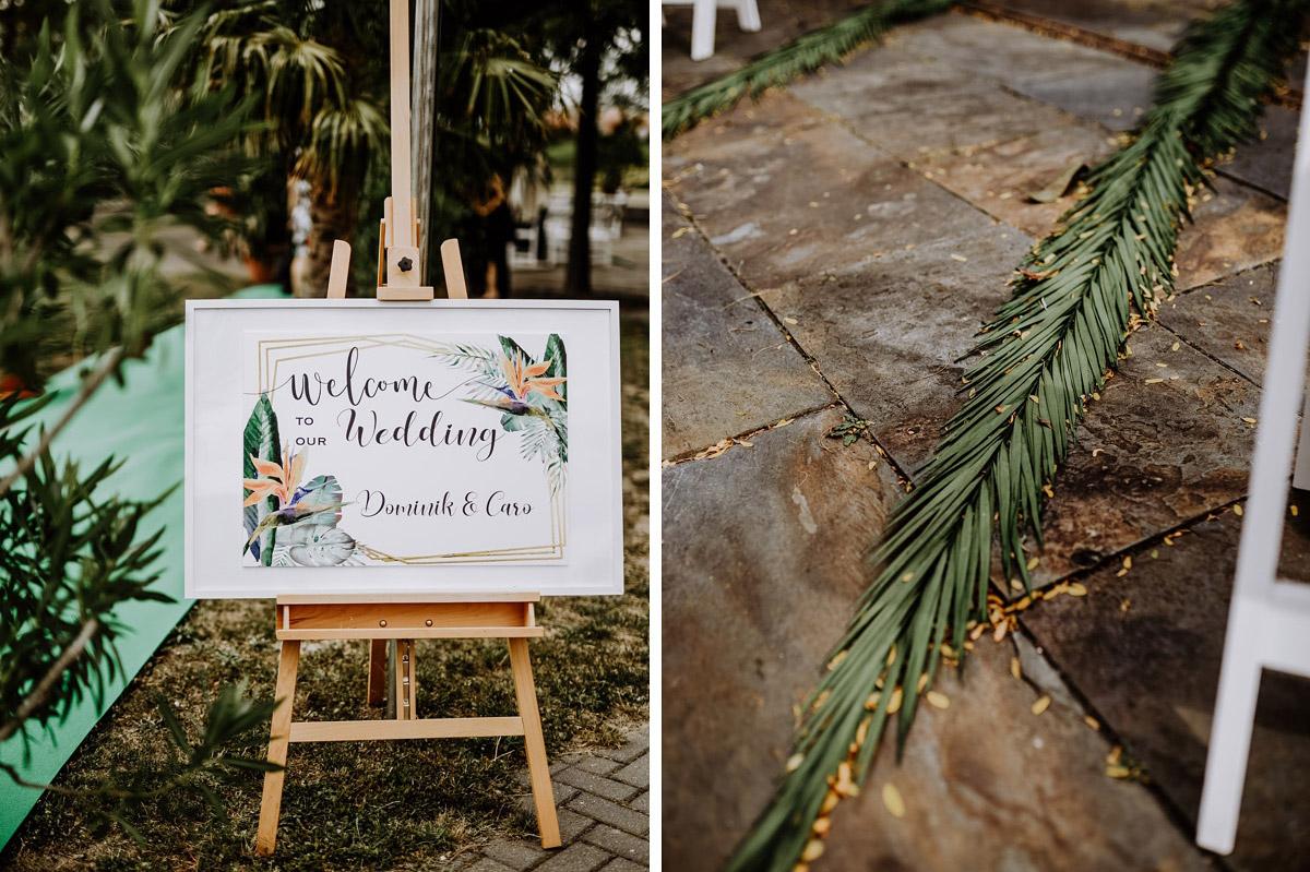 Inspiration Dekoration Trauung Tropical Wedding - Hochzeitsfotos tropische Hochzeit in der Biosphäre Potsdam von Hochzeitsfotograf Berlin © www.hochzeitslicht.de #hochzeitslicht