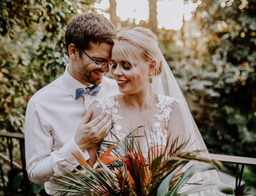 Tropische Hochzeit in der Biosphäre Potsdam von Berliner Hochzeitsfotograf