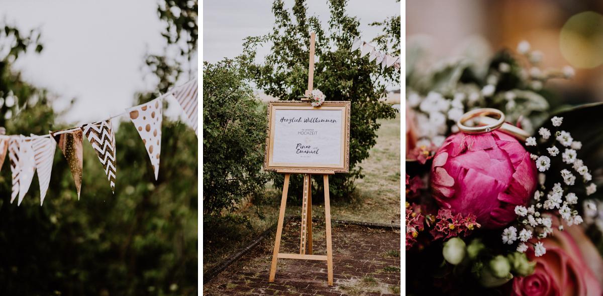 Idee DIY Hochzeit Deko freie Trauung Garten Landhochzeit - Scheunenhochzeit in Brandenburg - freie Trauung Kulturscheune Thyrow von Hochzeitsfotograf Berlin © www.hochzeitslicht.de #hochzeitslicht