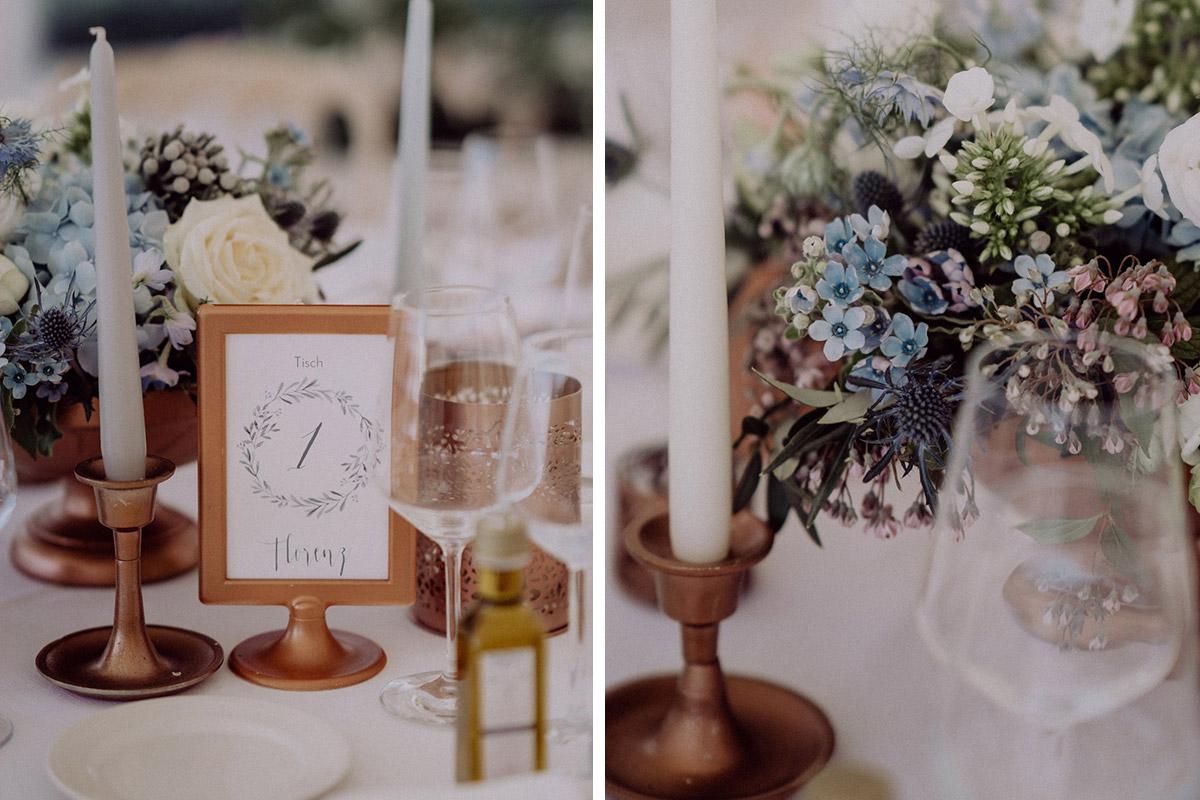 Idee Dekoration Sommerhochzeit hellblau weiß Hortensien - Italien Hochzeit mit Hochzeitplanerin aus Berlin #hochzeitslicht Toskana Hochzeitsfotos und Hochzeitsfilm © www.hochzeitslicht.de