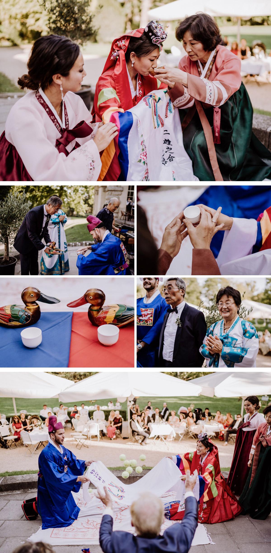 koreanische Trauzeremonie nach Standesamt im Park vom Schloss Kartzow von Hochzeitsfotografin aus Berlin #hochzeitslicht © www.hochzeitslicht.de