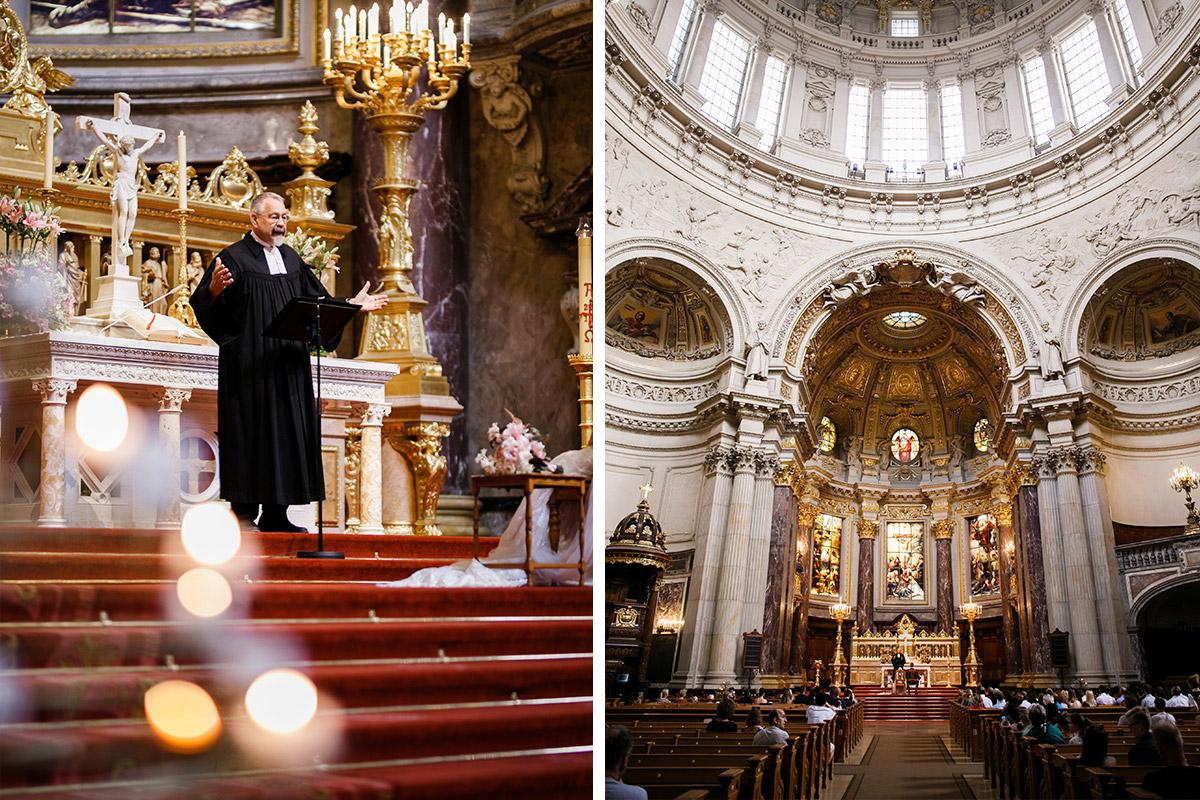 Hochzeitsfotografie Hochzeit Kirche Berlin Mitte - heiraten im Berliner Dom Hochzeit im Clärchens Ballhaus von Hochzeitsfotograf Berlin © www.hochzeitslicht.de #hochzeitslicht
