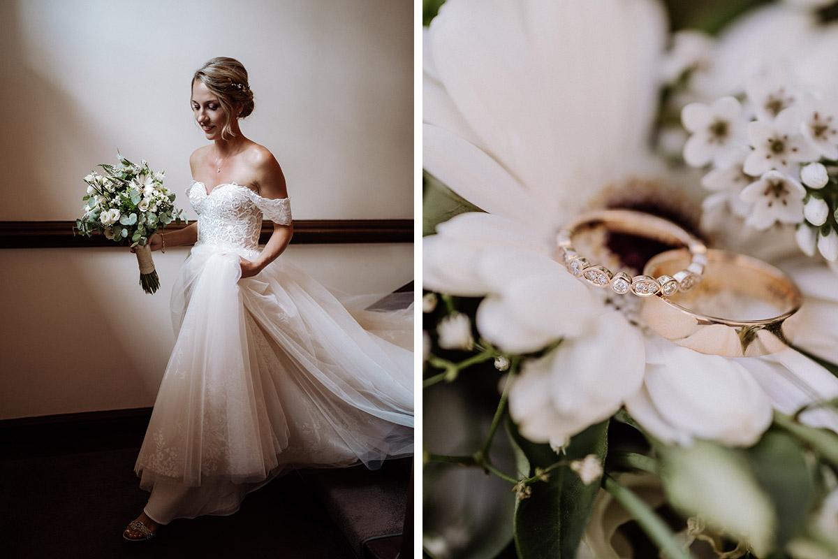 natürliche Hochzeitsfotos Braut - Hochzeit Shooting Ideen von vintage Hochzeitsfotograf Berlin © www.hochzeitslicht.de #hochzeitslicht auf Schloss Kartzow
