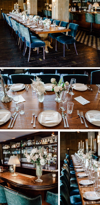 Standesamt Hochzeitsdekoration Feier elegant, schlicht, Tischdekoration langer Tisch, Pfingstrosen weiß im Soho House Berlin für Hochzeit © www.hochzeitslicht.de #hochzeitslicht #hochzeitsdeko #weddingtabledecor