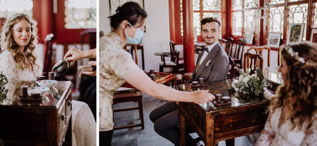 Idee Hochzeit Standesamt ausgefallen Berlin - Corona Hochzeit im Standesamt Berlin Gärten der Welt Chinesischer Garten - mehr im Blog von Hochzeitsfotografin Berlin © www.hochzeitslicht.de #hochzeitslicht