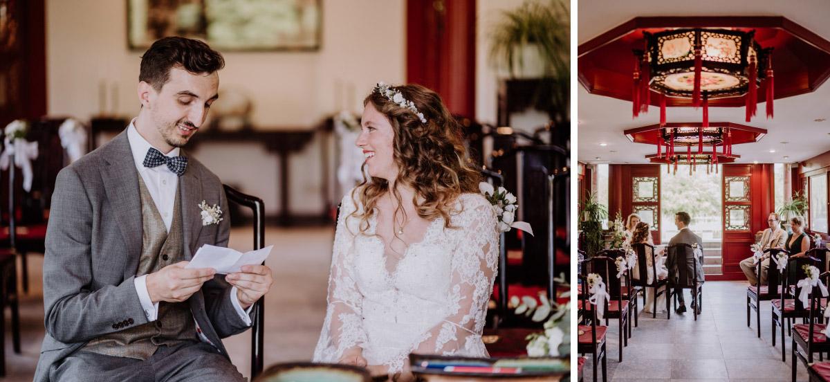 Hochzeitsfotografie Standesamt Berlin - Corona Hochzeit im Standesamt Berlin Gärten der Welt Chinesischer Garten - mehr im Blog von Hochzeitsfotografin Berlin © www.hochzeitslicht.de #hochzeitslicht