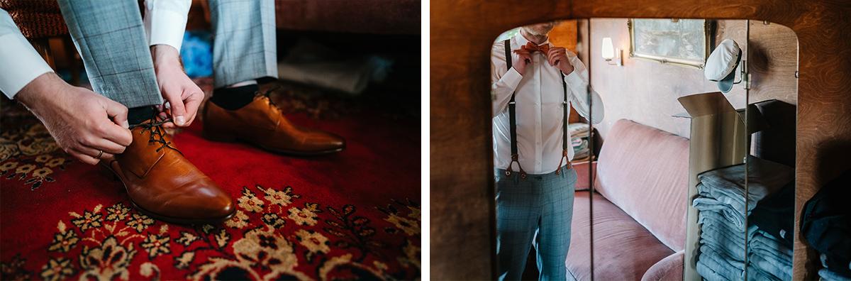 Hochzeitsreportage Vorbereitungen Bräutigam - Oberhafenkantine Berlin Hochzeit am Wasser, urbane Garten DIY-Hochzeit von Hochzeitsfotograf Berlin © www.hochzeitslicht.de #hochzeitslicht