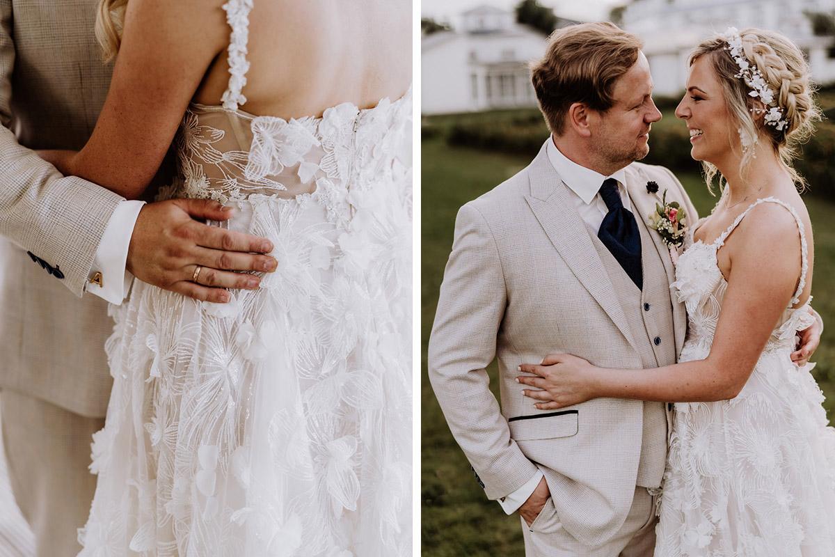 Ideen für natürliche Posen Hochzeitsfotos - Resort Schwielowsee Hochzeit mit freier Trauung von Hochzeitsfotograf Potsdam © www.hochzeitslicht.de #hochzeitslicht