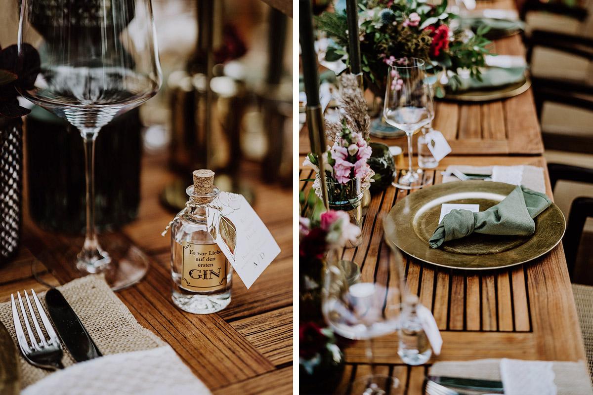 Inspiration Boho Hochzeit natürliche Tischdeko - Resort Schwielowsee Hochzeit mit freier Trauung von Hochzeitsfotograf Potsdam © www.hochzeitslicht.de #hochzeitslicht