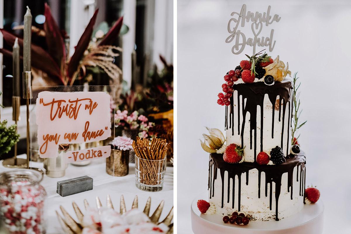 Drip Cake Hochzeitstorte - Resort Schwielowsee Hochzeit mit freier Trauung von Hochzeitsfotograf Potsdam © www.hochzeitslicht.de #hochzeitslicht
