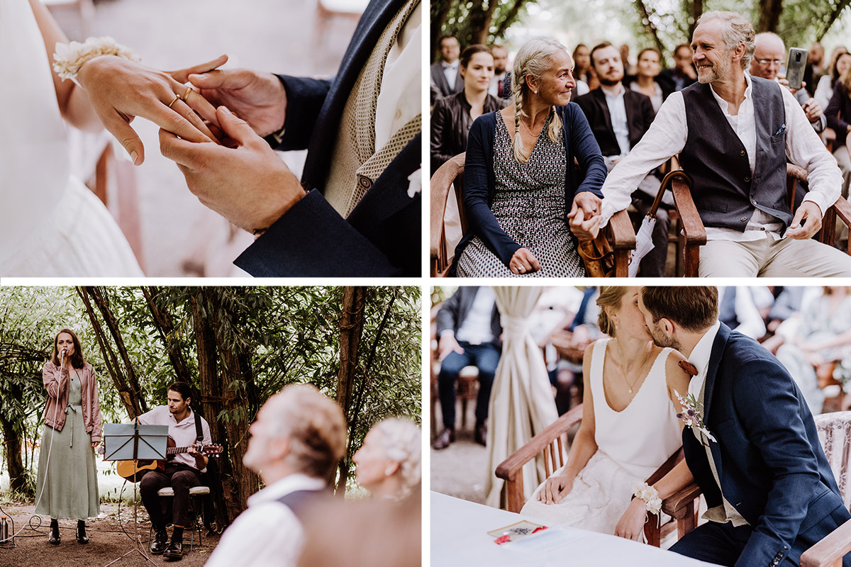 Hochzeitsmomente standesamtliche Trauung Landhochzeit - Spreewald Hochzeitsfotograf aus Berlin im Standesamt Weidendom im Spreewaldresort Seinerzeit und Spreewood Distillers © www.hochzeitslicht.de #hochzeitslicht