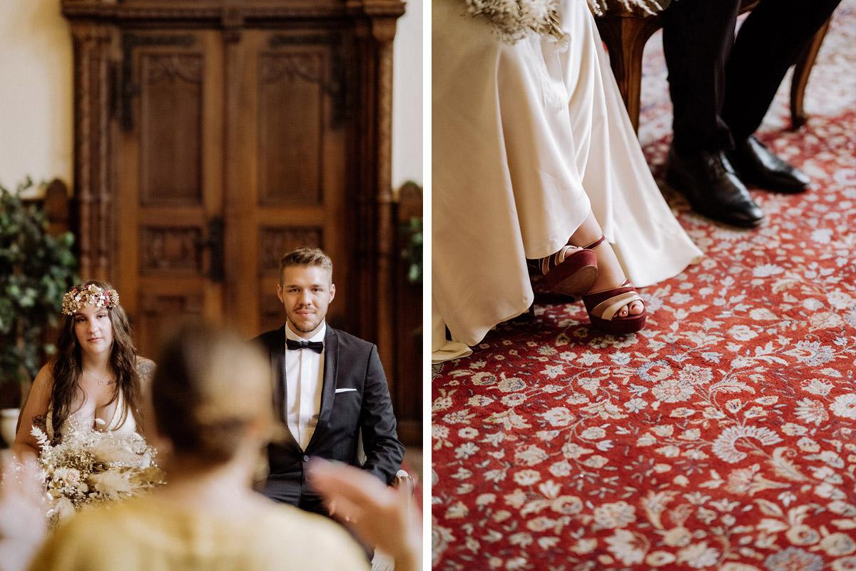 Standesamt Hochzeit - Standesamt Rathaus Schmargendorf Hochzeit am Schloss Charlottenburg, auf der Pfaueninsel und im Amano Grand Central Hotel von Boho Hochzeitsfotograf Berlin © www.hochzeitslicht.de #hochzeitslicht