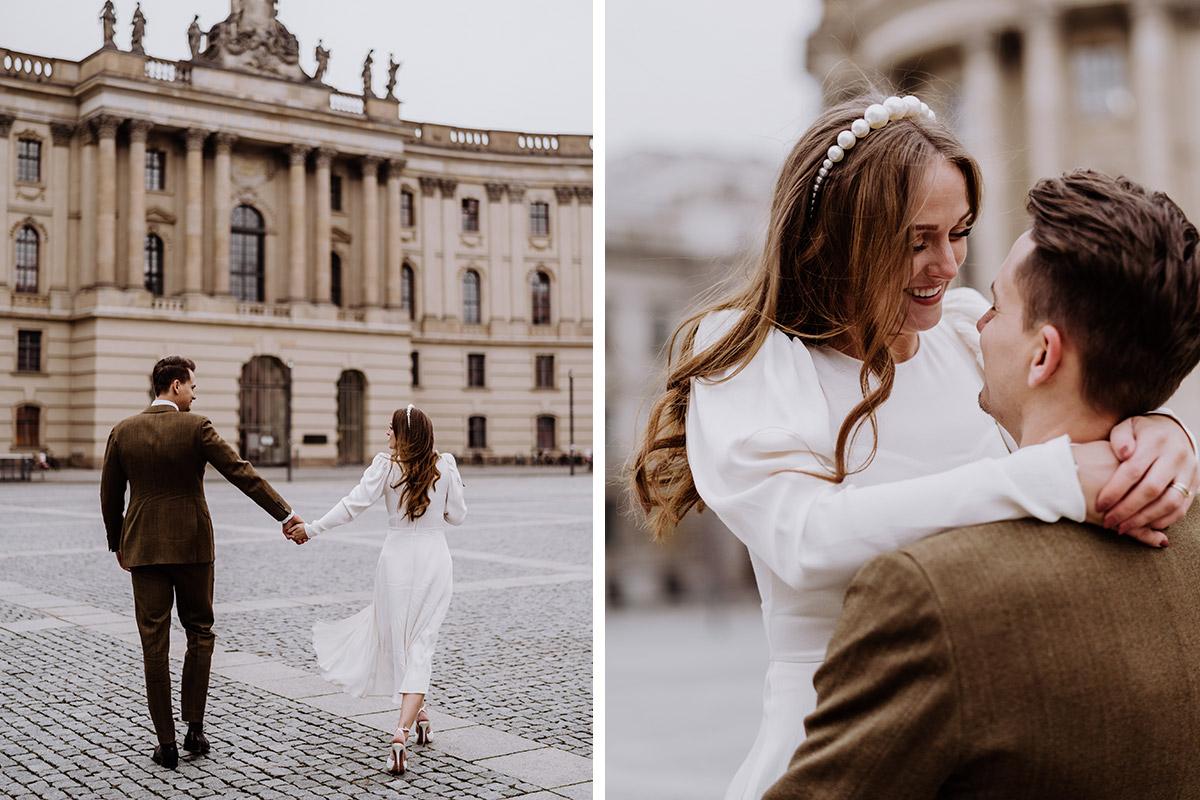 Idee Hochzeit Spaziergang - Hochzeitsfotograf Standesamt Berlin im Rathaus Schmargendorf auf Winterhochzeit im Wald und urban in der Stadt © www.hochzeitslicht.de #hochzeitslicht
