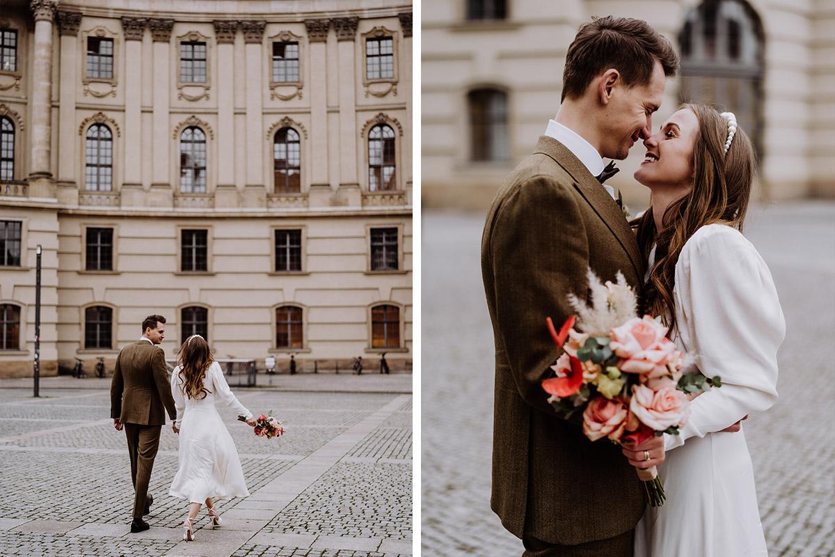 Berlin Mitte Fotoshooting Hochzeit - Hochzeitsfotograf Standesamt Berlin im Rathaus Schmargendorf auf Winterhochzeit im Wald und urban in der Stadt © www.hochzeitslicht.de #hochzeitslicht
