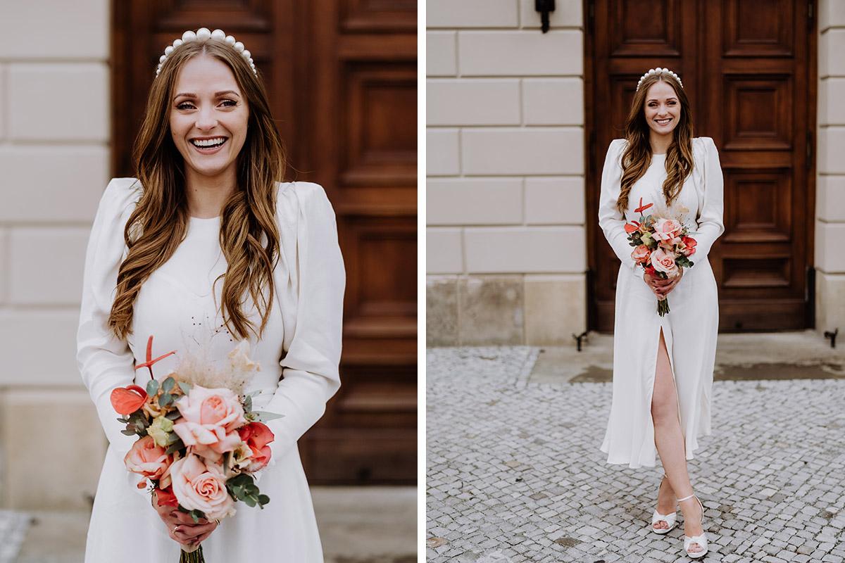 Portrait Hochzeit Braut - Hochzeitsfotograf Standesamt Berlin im Rathaus Schmargendorf auf Winterhochzeit im Wald und urban in der Stadt © www.hochzeitslicht.de #hochzeitslicht