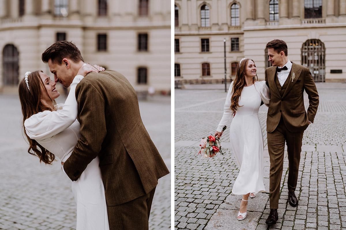 Paarfotoshooting Hochzeit Standesamt - Hochzeitsfotograf Standesamt Berlin im Rathaus Schmargendorf auf Winterhochzeit im Wald und urban in der Stadt © www.hochzeitslicht.de #hochzeitslicht