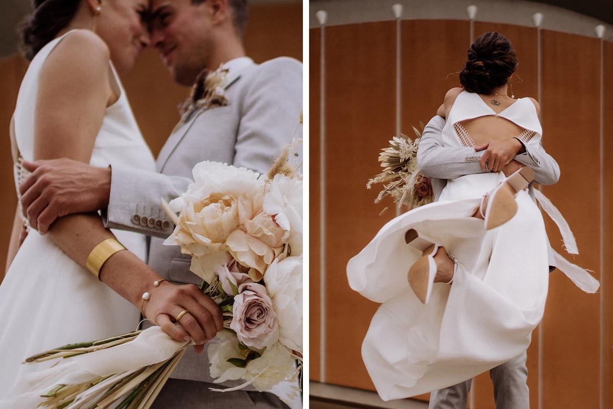 ungestellte Hochzeitsfotos mit Bewegung - schöne Hochzeitslocations in Berlin zu finden in der urbanen Elopement Hochzeitsreportage von Hochzeitsfotograf Berlin © www.hochzeitslicht.de #hochzeitslicht