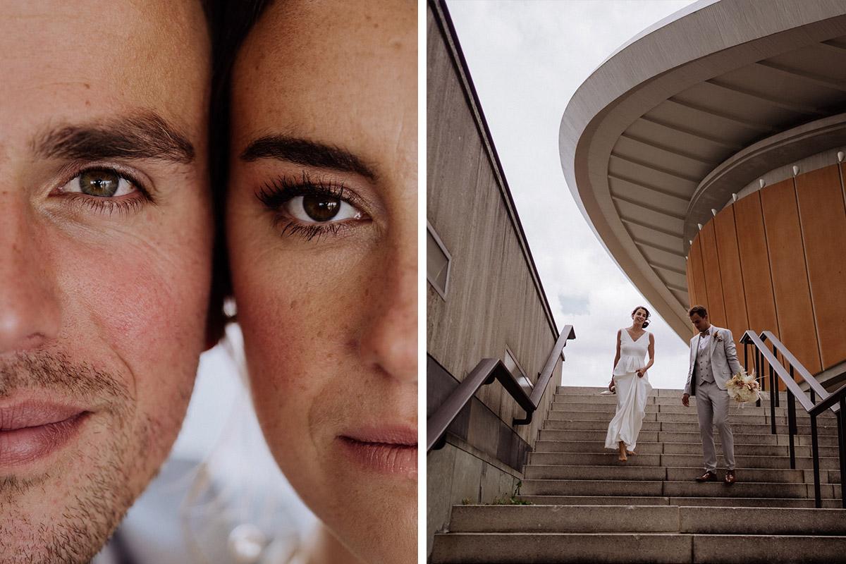 Hochzeitsfotos modern - schöne Hochzeitslocations in Berlin zu finden in der urbanen Elopement Hochzeitsreportage von Hochzeitsfotograf Berlin © www.hochzeitslicht.de #hochzeitslicht