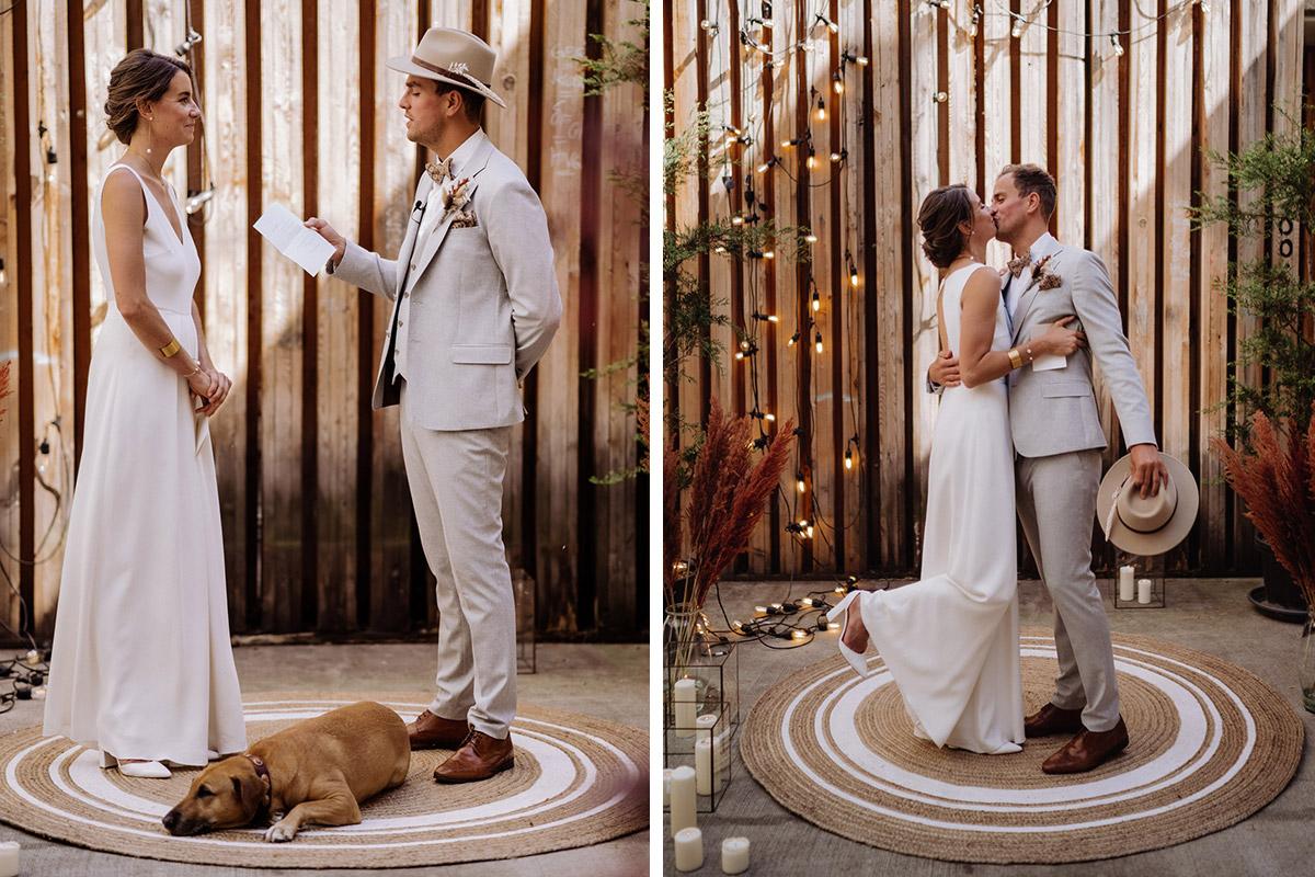 Hochzeit mit Hund - schöne Hochzeitslocations in Berlin zu finden in der urbanen Elopement Hochzeitsreportage von Hochzeitsfotograf Berlin © www.hochzeitslicht.de #hochzeitslicht
