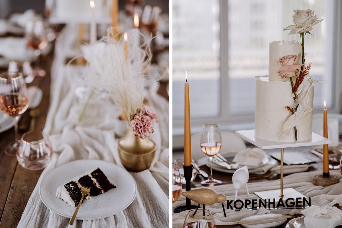 Idee Tischdekoration Skandi Stil - schöne Hochzeitslocations in Berlin zu finden in der urbanen Elopement Hochzeitsreportage von Hochzeitsfotograf Berlin © www.hochzeitslicht.de #hochzeitslicht