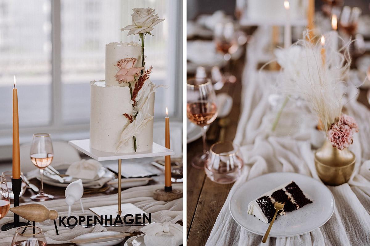 Idee Tischdeko Skandi Style - schöne Hochzeitslocations in Berlin zu finden in der urbanen Elopement Hochzeitsreportage von Hochzeitsfotograf Berlin © www.hochzeitslicht.de #hochzeitslicht